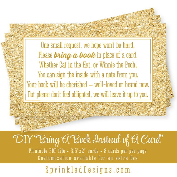 Clever image regarding bring a book instead of a card printable