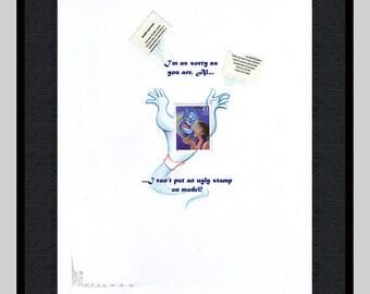 Framed Aladdin extended stamp portrait
