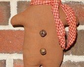 Gingerbread Man Ornie - 9.5 inches tall - READY TO SHIP