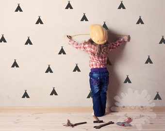 TeePee Wall Decal / Tent Wall Sticker / Indian Tepee Decal / Kids wall decoration / Nursery decal