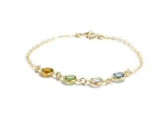 Mother bracelet  Family bracelet Grandma bracelet Birthstone bracelet Personalized bracelet Personalized birthstone bracelet Bridesmaid