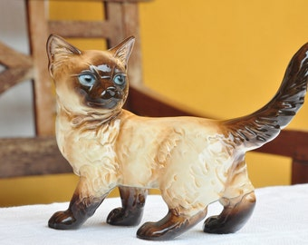Goebel Siamese cat porcelain figure
