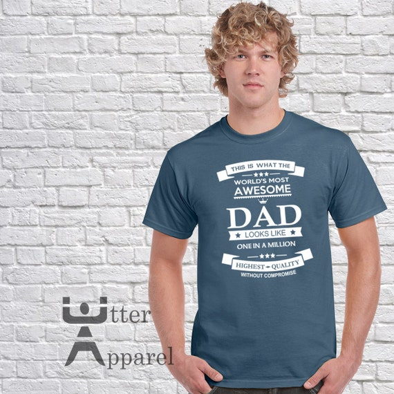 Father Gift Awesome Dad Mens tshirt  Father's Day Christmas gift  Funny Dad t shirt