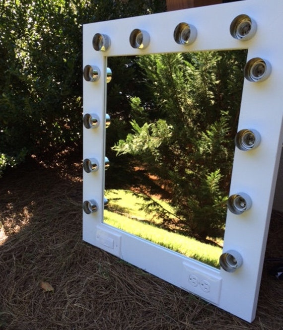 Vanity Light With Electrical Socket : Imperfect Vanity Makeup Mirror with Lights by CustomVanity on Etsy