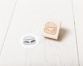 Hamburger - Rubber Stamp