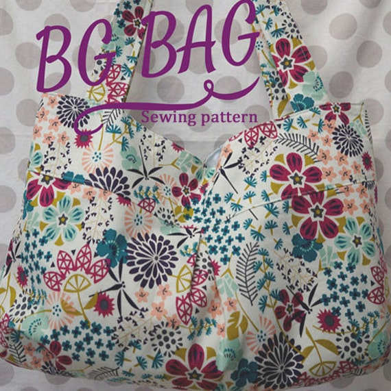 BG Bag PDF Sewing Pattern handbag and Beach Bag sizes