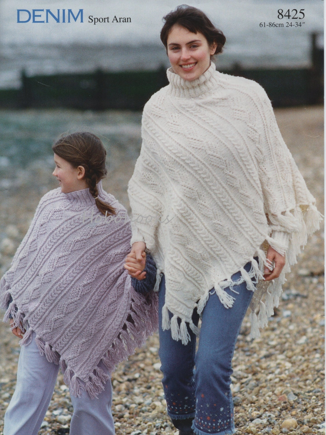 Womens knitting pattern girls knitting pattern aran poncho this is a digital file bankloansurffo Gallery