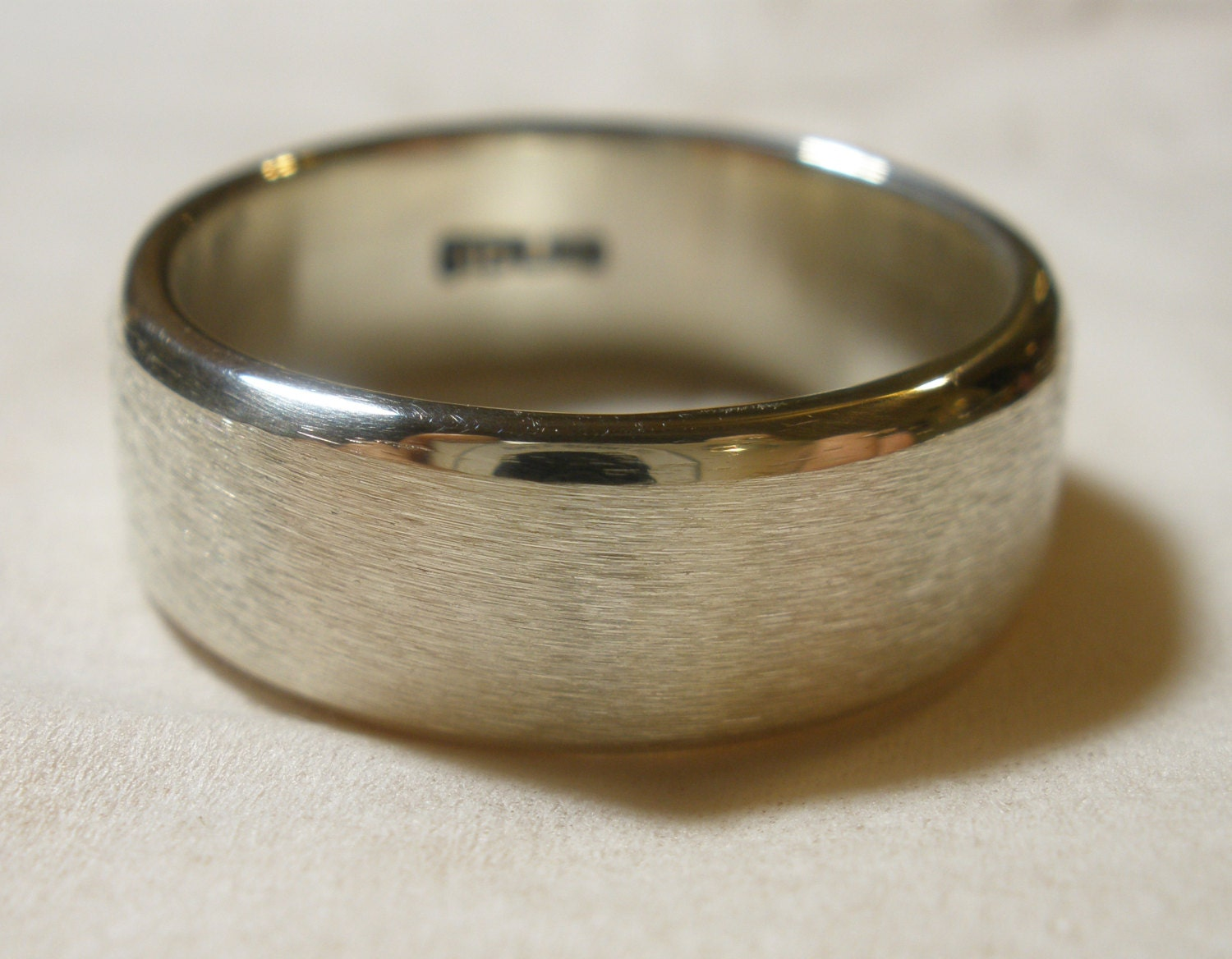 mens wedding band traditional simple promise ring handmade