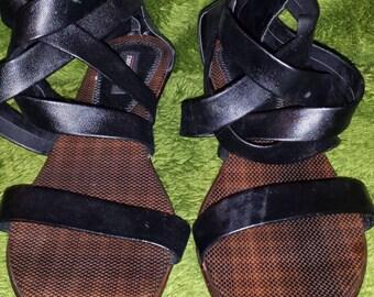 Strappy Gladiator Wedged Sandals