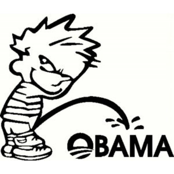 Piss on oboma stickers