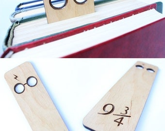 Harry Potter Bookmark, Harry Potter Gift, Wooden bookmark, unique bookmark, Platform 9 3/4, Potter Bookmarks, Christmas gifts  READY TO SHIP
