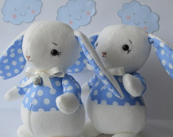 PDF sewing pattern soft toy, Stuffed doll Plushie,      'OLLIE' the roly-poly rabbit