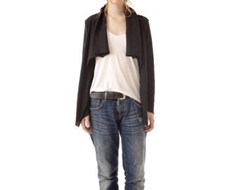 Black alpaca cardigan | Wrap cardigan | Cowl neck cardigan | Alpaca cardigan | Black cardigan | Knit cardigan | Cowl neck | MELISSA