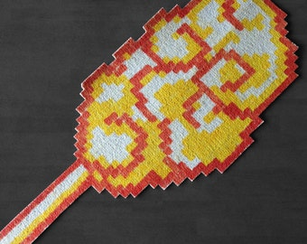 Carpet cloud Magic! Yellow - Pixel Art - hand painted by Le Marcassin wing
