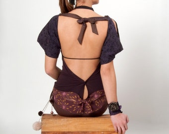 Independant sleeves for woman, tied in a knot at the front and the back