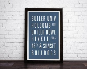 BUTLER UNIVERSITY - Subway Art Print - Customizable