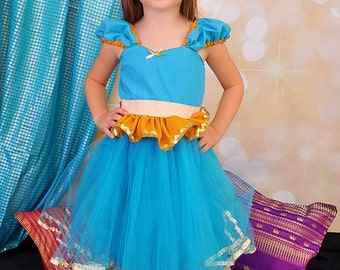 Princess Jasmine costume  dress  princess Jasmine dress birthday party dress, size 2/3t, 6/6X,  8/10, and 10/12