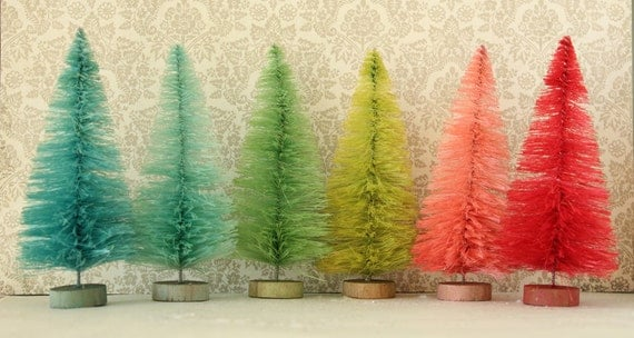 like this item - Bottle Brush Christmas Trees