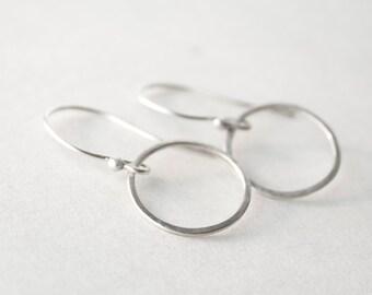 Silver Hoop Earrings - Small Hoop Earrings - Minimalist Earrings - Gift For Girls - Under 25 - Fine Silver Earrings - Lightweight Earrings