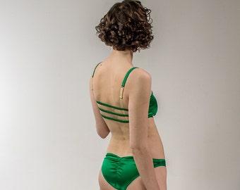 Freya: Silk Satin Low Rise Panties. 12 Colors.