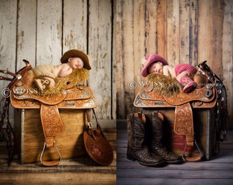Twin Outfits - Newborn Twin Props - Baby Cowboy Outfit - Newborn Twin Outfits - Twin Baby Boy Outfits - Twin Baby Girl Outfits - Twin Prop