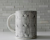 Cozy mug with cable-knit texture | coffee mug tea cup | original modern handmade sweater design | pick your colors | made to order