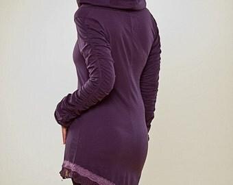 Ruffled Elven Tunic - long sleeve pixie dress - Fantasy Top - women's clothing