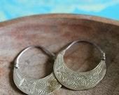 Large - Vintage Etched Bohemian Earrings
