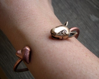 Bull terrier wrap bracelet, love my bully