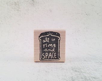 The Time and Space Stamp - Whovian Rubber Stamp - Pen Pal Stationary