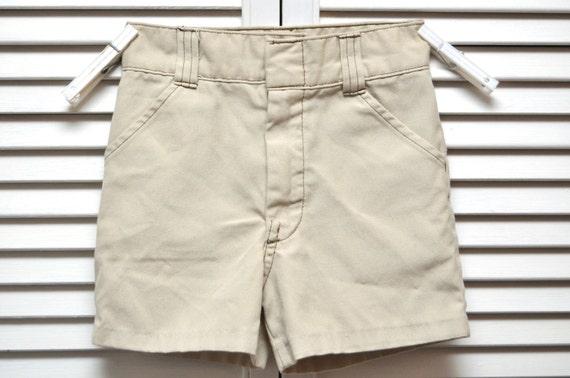 vintage childrens khaki shorts billy the by hotrodgirlvintage