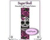 Bead Pattern Peyote(Bracelet Cuff)-Sugar Skull