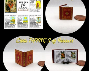 The SECRETS of The TAROT Illustrated Miniature Book Dollhouse 1:12 Scale Book