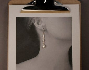 Pearl Earrings in Gold - Dangle & Drop Pearl Earrings in 14kt Gold Fill with Natural Freshwater Pearls - 00137G - MADE TO ORDER