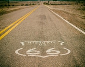 Route 66 decor, Vintage look, Square print, Travel photography, Road Trip, Wanderlust, Wall art, fine art photography print