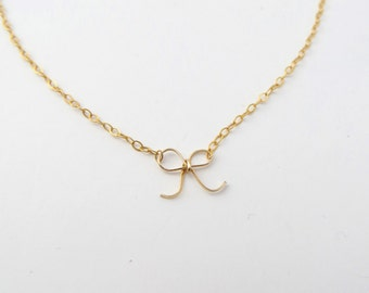 Gold Filled Hand-Crafted Bow Necklace