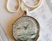"St John Apostle Pendant with 20"" Sterling Silver Chain - 32mm"