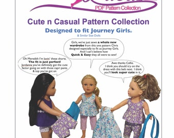 Cute n Casual - Sewing pattern for Journey Girl Dolls