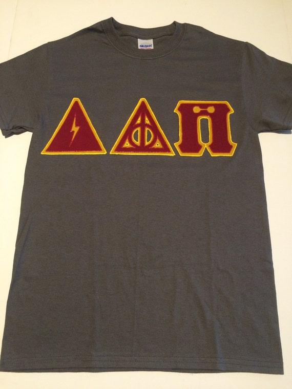 custom greek letter shirt harry potter delta delta pi
