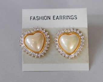 1980s Heart Earrings