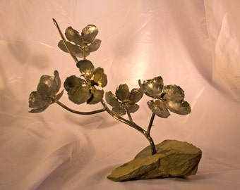 5 Flower Cherry Blossom Sculpture, desk art