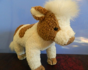 """TY Large Plush Brown And White Cow """"Jersey"""""""