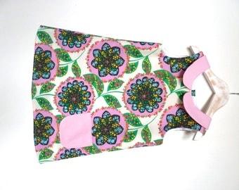 SALE !!!! Last one. Baby girls Dress 6-12months, summer Bloom Flower, peter pan collar, special price!!
