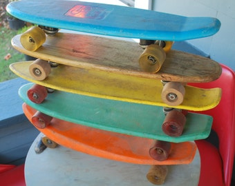 Vintage Orange Skateboard Original Wheels Supergrip Sport Fun