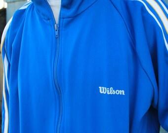 Vintage Blue Wilson XL Track Jacket