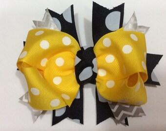 Yellow/Navy Bow