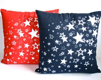 "Screen printed  ""Sprinkle of Stars"" cushion cover"