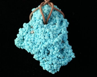 Natural Turquoise Crystal Cluster Pendant