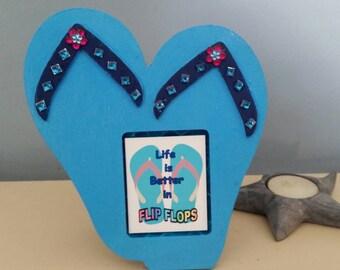 Flip flop picture frame