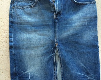Two Vintage Levi Denim Skirts